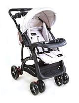 LuvLap Baby Stroller Pram Sports (Gray/Black)