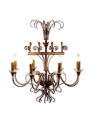 Castilian Independence Chandelier, Amber/Gold/Clear