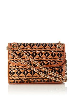 Rebecca Minkoff Women's Affair Woven Shoulder Bag (Black/Almond)