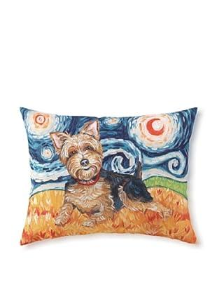 Van Growl Yorkie Pillow