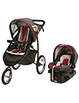 Graco Fastaction Fold Jogger Click Connect Travel System/Click Connect 35 - Chili Red