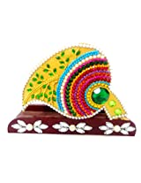 Alluring Decorative Maroon Red Stonework Leaf Tissue Holder Table Kitchen decor Made with Hand Painting and Decoration By Skilled Artisans of Rajasthan India