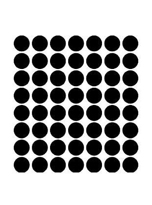 Ambiance Sticker Wandtattoo 50 tlg. Set Black Dot Decals