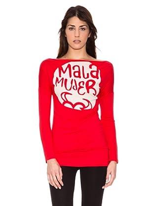 Mala Mujer Camiseta Claudia (Rojo)