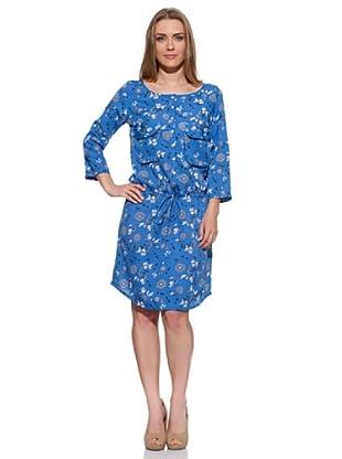 Spantajáparos Vestido Clipper flores (Azul)