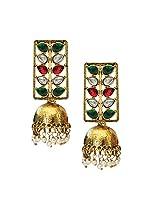 Beingwomen Gold Plated Kundan Studded Fashion Jhumki Earring
