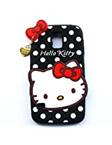 Hello Kitty With Pendant Silicone Back Case Cover For Samsung Galaxy S5 i9600