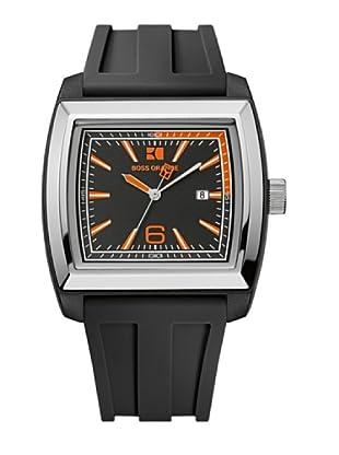 Boss Orange 1512601 - Reloj de Caballero movimiento de quarzo con correa de caucho negra