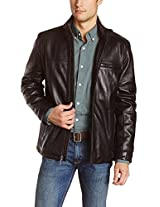 Iftekhar Men's Pure leather Jacket - Blue - (Iftekhar11 - XS)