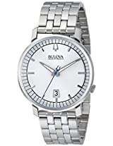 Bulova Analog Silver Dial Men's Watch - 96B216
