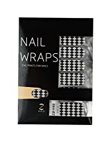 Ruby Nail Art Sticker, Black and White (Pack of 14)