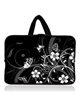 "Black&white butterfly 6"" 7"" 7.85"" inch tablet Case Sleeve Carrying Bag Cover with handle for Apple iPad mini/Samsung GALAXY Tab P3100 P6200/Kindle Paperwhite/Kindle Touch/Kindle fire/Kindle fire HD 7 inch/Acer Iconia A100/Google Nexus 7/Noble NOOK Color"