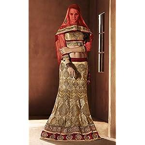 Classic Fashionable Golden Colored Designer Lehenga By Lifestyle Fashion Store - Model Number LFLEBND01803