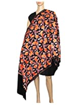 Indian Fashion Guru, Light Brown, Flower design, Embroidery stole, shawl