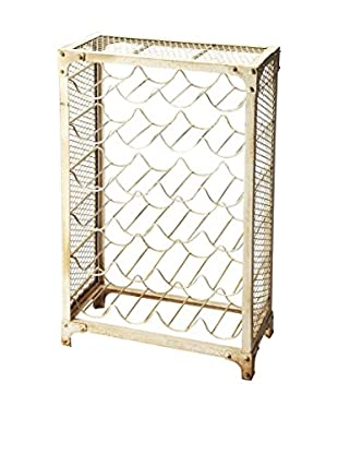 Butler Specialty Company Wine Rack, Distressed Ivory