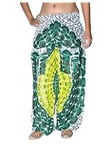 Famacart Women Pocket Printed Harem Pant Free Size Green