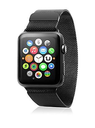 UNOTEC Uhrenband für Smartwatch Metal Watch 38 mm schwarz