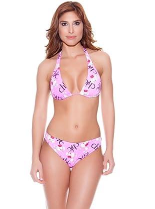 Teleno Bikini Cortina Letras Rosa (Rosa)