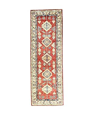 Eden Teppich   Kazak Super 83X245 mehrfarbig