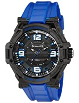 Sonata Ocean Series III Analog Multi-Color Dial Unisex Watch - NG77029PP03J