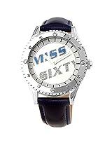 Miss Sixty Black Leather Analog Women Watch R 6003