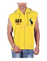 Pure Cotton Men's Sleeveless Jacket with Hooded