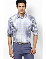 Blue Checked Casual Shirt Allen Solly