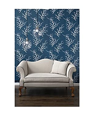 Tempaper Designs Edie Self-Adhesive Temporary Wallpaper, Frosted Teal, 20.5