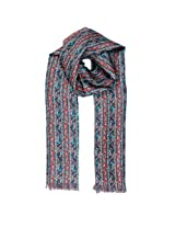 Tiekart Mens Silk Scarf -Blue -Free Size