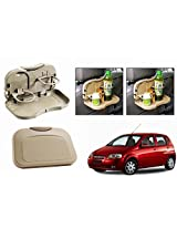 Speedwav Foldable Car Dining Meal Drink Tray BEIGE SET OF 2-Chevrolet Aveo UVA