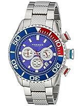 Akribos XXIV Men's AK512BU Conqueror Large Diver's Chronograph Bracelet Watch