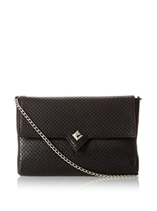 Possé Women's London Cross-Body, Black Perforated