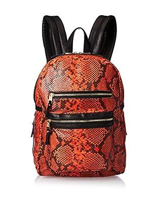 ASH Women's Danica Medium Backpack, Orange/Black