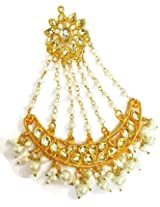 Divinique Jewelry Kundan Pearl Pasa / Jhoomer Maang Tikka