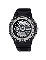 Q&Q Analog-Digital Grey Dial Mens Watch-DE10-301