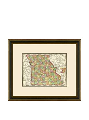 Antique Lithographic Map of Missouri, 1886-1899
