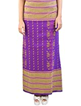 H2A2 Women wrap around hand-loom Skirt (Multi-Coloured)