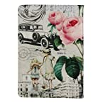 The D Type Retro Building Leather Flower Case Flip Pouch Stand Cover for Ipad Mini