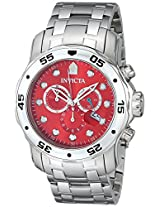 Invicta Men's 80061 Pro Diver Analog Display Swiss Quartz Silver Watch
