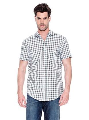 Hugo Boss Camisa Egrifye (Marrón / Celeste / Blanco)