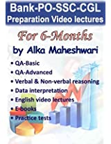 Bank PO, SSC, IBPS Video Lectures By Alka Maheshwari (6 Month) Single User
