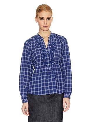Gant Camisa Estampada (Azul)