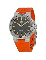 Oris Aquis Date Grey Dial Orange Rubber Men's Watch (01 733 7653 4158-07 4 26 34GEB)