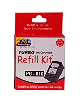 Turbo Refill Kit for Canon 810 Black Ink Cartridge