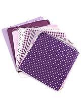 7pcs 25x20cm Purple Series Cotton Sewing Fabric Dolls Purse Handwork DIY Patchwork Cloths