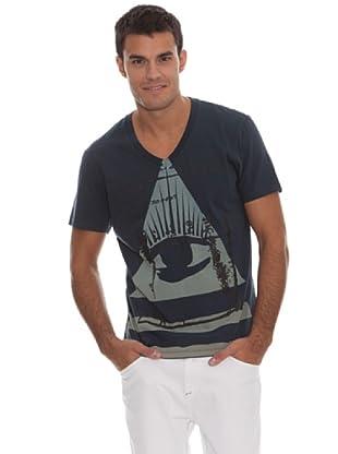 Guess Camiseta Pirámide (Azul)