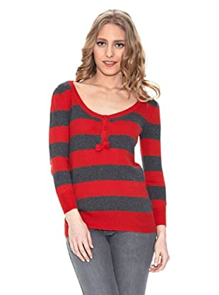 Springfield Jersey Rayas Cuello Redondo (Rojo)