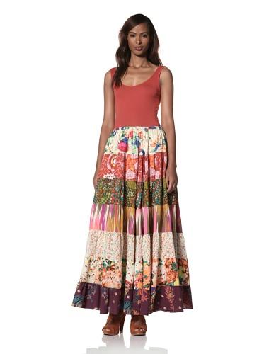 Dallin Chase Women's Welding Tiered Print Maxi Skirt (Multi)