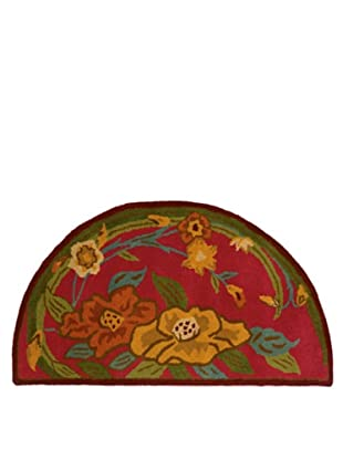 Trade-Am Vibrance Floral Half-Moon Rug, Pink, 22