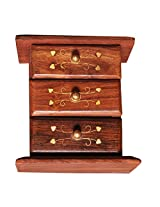Napkin Holder Wood with Floral Appliques - Decorative Centerpiece Tissue Organizer - Perfect Dining / Kitchen / Tabletop Accessories